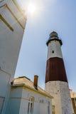 ведущее популярное пункта музея montauk маяка увиденное к прогулке взгляда Стоковые Фотографии RF
