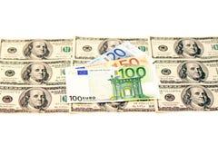 2 ведущих валюты Стоковое Изображение RF