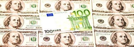 2 ведущих валюты Стоковое Изображение