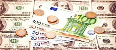 2 ведущих валюты Стоковое Фото