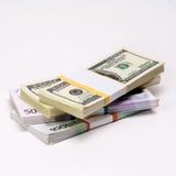 2 ведущих твердой валюты - доллар США против евро Стоковое Изображение