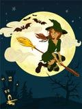 ведьма веника Стоковое Изображение RF