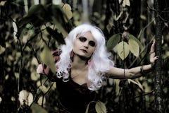 Ведьма в древесинах на Halloween Стоковое Фото