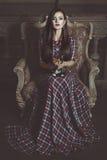 Ведьма девушки с котом Стоковое Изображение