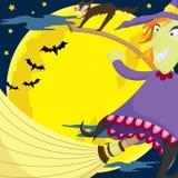 Ведьма летания Стоковая Фотография