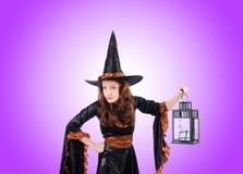 Ведьма против предпосылки градиента Стоковое фото RF