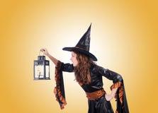 Ведьма против предпосылки градиента Стоковые Фотографии RF