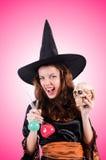 Ведьма против предпосылки градиента Стоковое Изображение