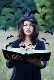 Ведьма смотря ворон Стоковая Фотография RF
