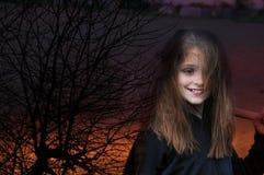 Ведьма с веником Стоковое Изображение