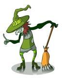 Ведьма шаржа Стоковое Изображение RF