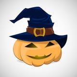 ведьмы тыквы шлема halloween Иллюстрация штока