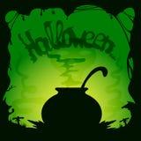 ведьмы halloween котла Стоковое Изображение