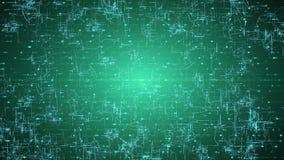 Взаимодействие цифров, искусственный интеллект и концепция хранения данных Вытекая соединения, проводники и нервные сигналы бесплатная иллюстрация