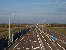 Взаимообмен Jastkow скоростной дороги S17 Стоковая Фотография RF