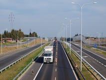 Взаимообмен Rudnik скоростной дороги S17 Стоковое Фото