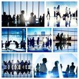 Взаимодействия бизнесмены команды встречи работая глобальная концепция Стоковое Изображение