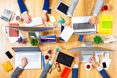 Взаимодействовать как команда для лучших результатов Мультимедиа Стоковая Фотография RF