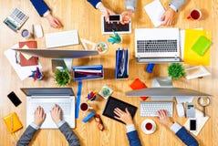 Взаимодействовать как команда для лучших результатов Стоковые Изображения