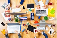 Взаимодействовать как команда для лучших результатов Стоковое Изображение