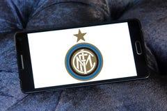 Взаимо- логотип клуба футбола милана Стоковое фото RF