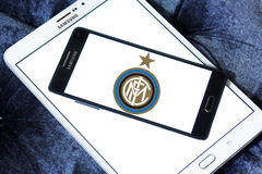 Взаимо- логотип клуба футбола милана Стоковая Фотография RF