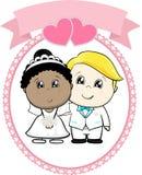 Взаимо- расовая свадьба пар Стоковая Фотография RF