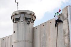взбирает израильская палестинская стена разъединения стоковая фотография