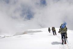 Взбираться в Кавказе Стоковые Изображения