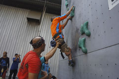 Взбираться стены Стоковое Изображение RF