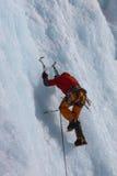 Взбираться льда Стоковое Фото