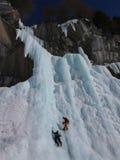 Взбираться льда Стоковое Изображение