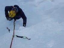 Взбираться льда Стоковая Фотография RF