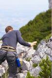 взбираясь гора Стоковое Фото