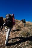 взбираясь гора hikers Стоковое Изображение