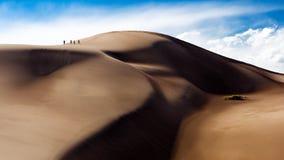 взбираясь дюны большие Стоковое Изображение