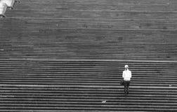 взбираясь лестницы девушки Стоковые Изображения RF