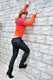взбираясь стена Стоковая Фотография