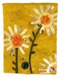 взбираясь улитка цветка иллюстрация штока
