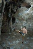 взбираясь утес узлов ropes 2 Стоковая Фотография