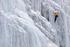 Взбираясь icefall собор - Sottoguda-Rocca Pietore Стоковые Фотографии RF