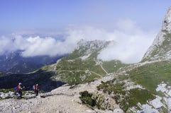 Взбираясь Mt Mangart Стоковое Изображение RF
