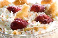 взбитая клубника cream десерта Стоковая Фотография