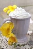 взбитое утро сливк кофе Стоковые Изображения RF