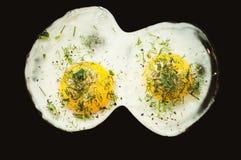 Взбитые яйца как идеальный завтрак для спортсмена и как раз активного человека стоковые изображения rf