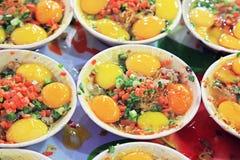 Взбитые яйца с морепродуктами Стоковые Изображения RF