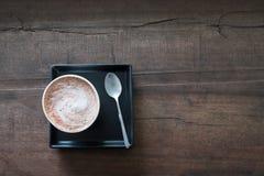 взбитый горячий шоколада cream Стоковая Фотография RF