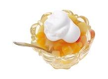 взбитый плодоовощ тарелки коктеила cream Стоковые Фотографии RF