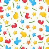 Взбрызните звезды утенка цыпленка зайчика кролика figurines картины торта пестротканые Стоковые Фотографии RF