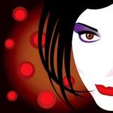 Взбунтованная красивейшая женщина составляет Стоковые Изображения RF